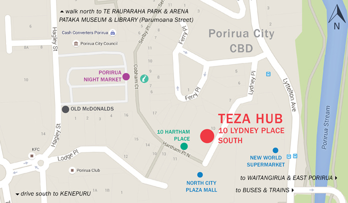 TEZA 2015 map of Porirua CBD